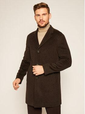 Oscar Jacobson Oscar Jacobson Cappotto di lana Storik 7126 9049 Marrone Regular Fit