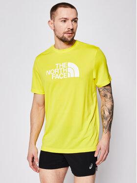 The North Face The North Face Тениска от техническо трико Tanken Tee NF0A3BQ6DW91 Жълт Regular Fit