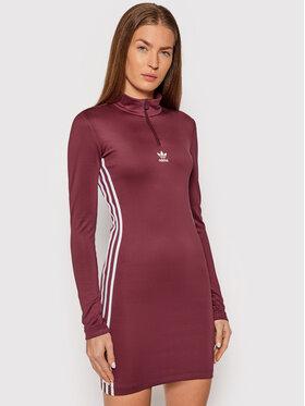 adidas adidas Sukienka codzienna adicolor Classics H35617 Bordowy Slim Fit