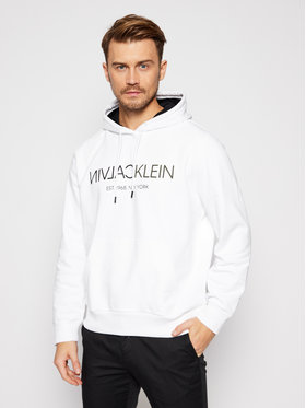 Calvin Klein Calvin Klein Суитшърт Text Reverse Front Logo K10K106404 Бял Regular Fit