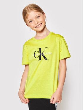 Calvin Klein Jeans Calvin Klein Jeans Marškinėliai IU0IU00068 Geltona Regular Fit