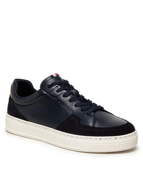 Tommy Hilfiger Tommy Hilfiger Sneakersy Cupsole Sustainable Leather Mix FM0FM03830 Granatowy