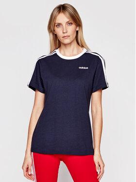 adidas adidas Marškinėliai Essentials FN5778 Tamsiai mėlyna Boyfriend Fit