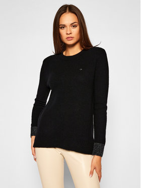 Calvin Klein Calvin Klein Sweter Fluffy K20K202251 Czarny Regular Fit