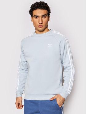 adidas adidas Bluza 3-Stripes Crew GN3480 Niebieski Regular Fit
