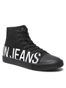 Calvin Klein Jeans Calvin Klein Jeans Кецове Vulcanized Mid Sneaker Logo YM0YM00276 Черен