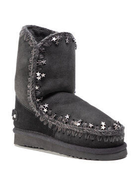 Mou Mou Chaussures Eskimo 24 Metallic Stars FW101038A Noir