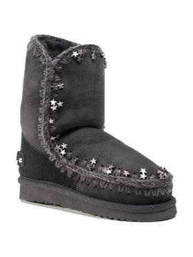 Mou Mou Παπούτσια Eskimo 24 Metallic Stars FW101038A Μαύρο