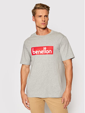 United Colors Of Benetton United Colors Of Benetton T-Shirt 3096J17H6 Szary Regular Fit