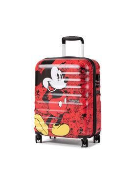 American Tourister American Tourister Mała Twarda Walizka Wavebreaker Disney 85667-6976-1CNU Czerwony