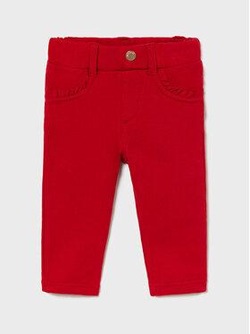 Mayoral Mayoral Spodnie materiałowe 560 Czerwony Regular Fit