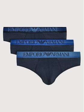 Emporio Armani Underwear Emporio Armani Underwear Sada 3 kusů slipů 111734 1A723 70435 Tmavomodrá