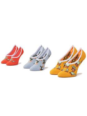 Vans Vans Súprava 3 párov krátkych detských ponožiek Beachin' Canoodles Socks VN0A4DSK4481 r.31.5-36 Žltá