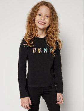 DKNY DKNY Blúz D35Q78 S Fekete Regular Fit