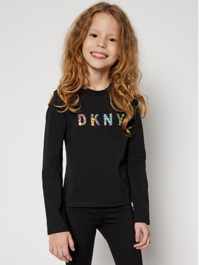 DKNY DKNY Bluzka D35Q78 S Czarny Regular Fit