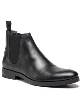 Togoshi Togoshi Kotníková obuv s elastickým prvkem TG-12-02-000063 Černá