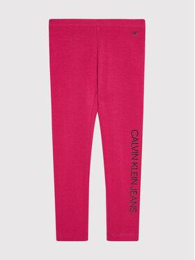 Calvin Klein Jeans Calvin Klein Jeans Legginsy Logo IG0IG00740 Różowy Slim Fit