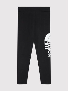 The North Face The North Face Leggings Cotton Blend Big Logo NF0A3VEHKY41 Nero Slim Fit