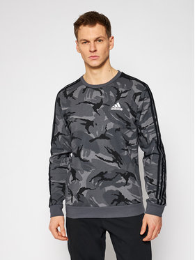 adidas adidas Bluză Essentials Camouflage Crew GK9976 Gri Regular Fit