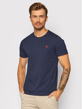 Polo Ralph Lauren Polo Ralph Lauren T-shirt Bsr 710680785 Bleu marine Custom Slim Fit