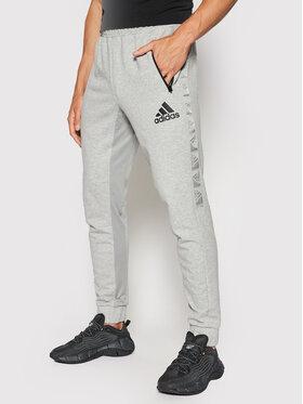 adidas adidas Sportinės kelnės Designed To Move Sport Motion Logo H28789 Pilka Regular Fit