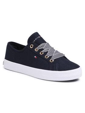 Tommy Hilfiger Tommy Hilfiger Tenisówki Essential Nautical Sneaker FW0FW04848 Granatowy