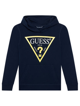 Guess Guess Μπλούζα L92Q09 KAUG0 Σκούρο μπλε Regular Fit