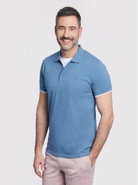 Vistula Vistula Тениска с яка и копчета Mike XA1277 Син Regular Fit