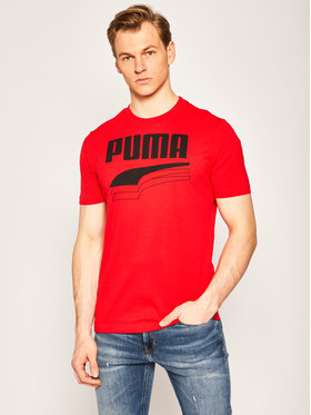 Puma Puma Tričko Rebel Bolt Tee 581356 Červená Regular Fit