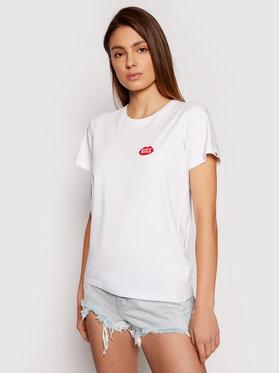 PLNY LALA PLNY LALA T-shirt Petite Kiss PL-KO-TS-0166 Bijela French Fit