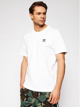 adidas adidas Тишърт adicolor Essentials Trefoil GN3415 Бял Regular Fit