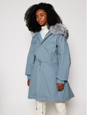 Mr & Mrs Italy Mr & Mrs Italy Parka KPK0020 Bleu Regular Fit