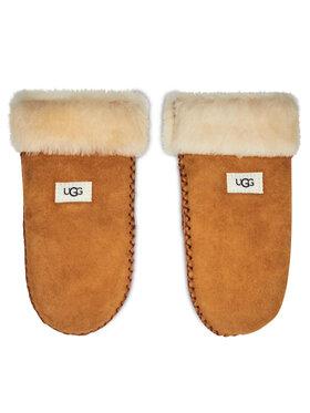 Ugg Ugg Детски ръкавици K Sheepskin Mitten W Stitch 20095 Кафяв