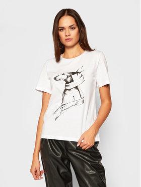Trussardi Jeans Trussardi Jeans Marškinėliai 56T00317 Balta Regular Fit