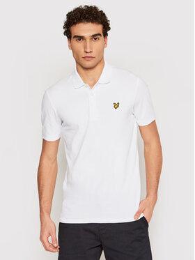 Lyle & Scott Lyle & Scott Тениска с яка и копчета Stretch SP919V Бял Slim Fit