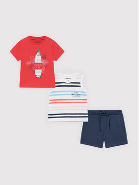 Mayoral Mayoral Set T-Shirt, Top und Shorts 1672 Bunt Regular Fit