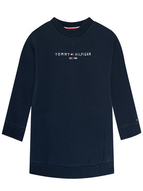 TOMMY HILFIGER TOMMY HILFIGER Mikina Essential Sweat Dress L/s KG0KG05449 Tmavomodrá Regular Fit