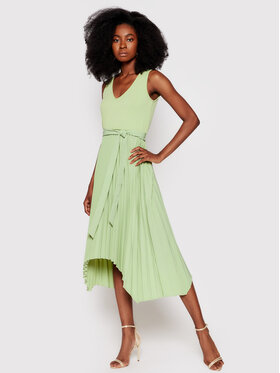 Guess Guess Každodenné šaty Erynn W8FK2X RC1S0 Zelená Regular Fit