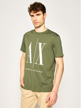 Armani Exchange Armani Exchange T-Shirt 8NZTPA ZJH4Z 1803 Zelená Regular Fit