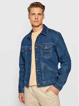 Wrangler Wrangler Giacca di jeans Icons W4MJUG923 Blu scuro Regular Fit