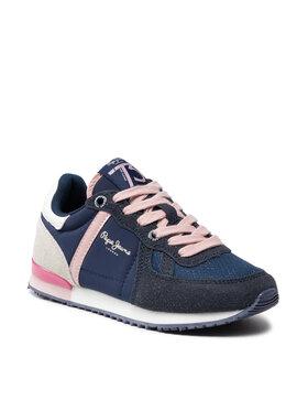 Pepe Jeans Pepe Jeans Sneakersy Sydney Combi Girl PGS30515 Tmavomodrá