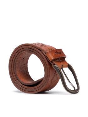 Wrangler Wrangler Dámský pásek Lozenge Belt W0H7U1X81 Hnědá