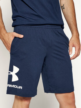 Under Armour Under Armour Szorty sportowe Sportstyle Cotton Graphic 1329300 Granatowy Regular Fit