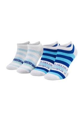 Tommy Hilfiger Tommy Hilfiger Set de 2 perechi de șosete medii pentru copii 100002313 Albastru