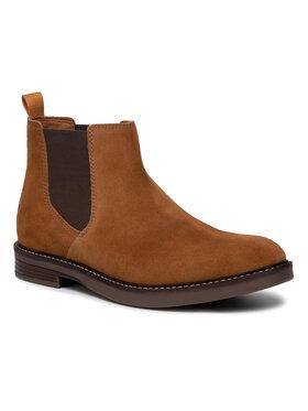 Clarks Clarks Kotníková obuv s elastickým prvkem Paulson Up 261464547 Hnědá