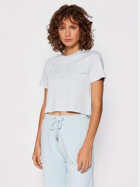 Guess Guess T-Shirt O1GA06 K8HM0 Niebieski Regular Fit