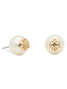 Tory Burch Tory Burch Fülbevaló Crystal Pearl Stud Earring 11165514 Fehér