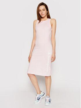 Champion Champion Φόρεμα καθημερινό Vertical Script Logo Print 112610 Ροζ Regular Fit