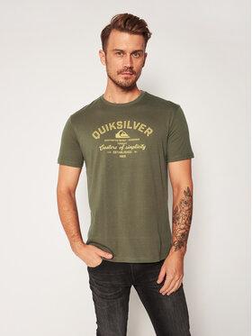 Quiksilver Quiksilver T-shirt Creators Of Simplicity EQYZT06055 Vert Regular Fit