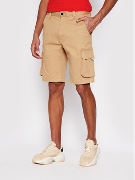 Tommy Jeans Tommy Jeans Bavlnené šortky Washed Cargo DM0DM11078 Béžová Regular Fit